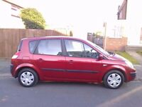 RENAULT SCENIC 1.6 2004 MOT AUGUST RELIABLE FAMILY CAR.