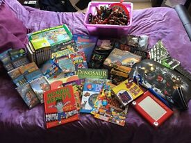 Boy toys, games, books and DVD's