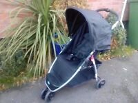 Babystart Ria 3 wheeler pushchair from birth with rain cover in good condition