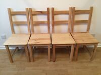 Set of 4 Chairs - Solid Wood - IVAR Ikea