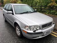 2001 Volvo V40 Auto 1.8 Estate Low miles. Very Reliable Drives Superb!