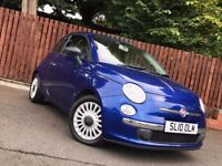 FIAT 500 POP 1.2 PETROL 2010 £30 ROAD TAX LONG MOT