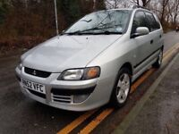 MITSUBISHI SPACE STAR EQUIPPE AUTO,,FULL STAMPEDE SERVICE HISTORY,,2 KEYS,,1 YEAR FRESH MOT,,£1100