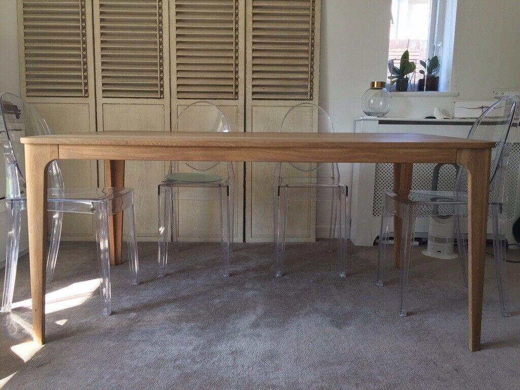 68afda6288b9 John Lewis Ebbe Gehl Dining Table Mira Oak 6 seater RRP £600 Solid Wood  Scandi