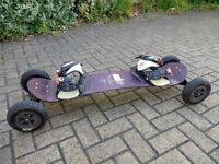 MBS Comp 16 Pro Mountainboard with No Sno Soft Bindings