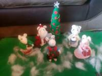 Victorian Christmas Mice. Handmade.