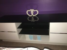 Modern gloss tv unit and 2 wall cabinets