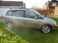 Vauxhall Zafira Energy 54 plate 7 Seater, High Miles, Great Condition
