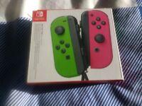 Neon Green & Pink Nintendo Switch Joy Cons (New)