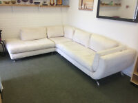 DFS Cream fabric corner sofa 280cm x 220cm