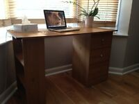 USED DESK AND CHEST OF DRAWERS