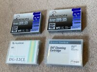 2 x IMATION 11737 4mm DDS3-125 12/24GB Data Tape Cartridge, £15 for 2 and 2 x Cleaning cartridge