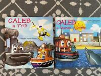 Welsh language children's books x 2 Caleb series by Dafydd Harris-Davies
