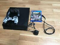 As new PS4 with 2 DualShock controllers and cod ww2