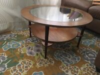 Oval coffee table, entrance combo