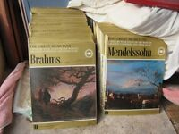 Classical record collection, Music of the Great composers, each with accompanying book