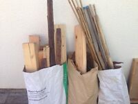 3 sacks of wood
