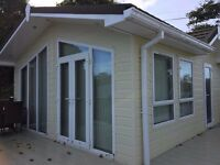 Preowned Lodge at Lydstep Beach Village near Tenby, set on the beach, Haven Owners only park