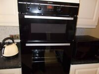 BLACK DOUBLE OVEN AND GRILL
