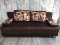 Sofa bed brown Paris film theme