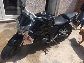 Wk spn 125 cc black