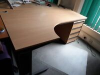 office firnature varios desks with/without pedestals filing cabinets/cupboards wood finish, offers