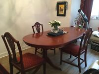 MAY Day Flash Sale -Dining room table and 4 chairs
