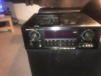 Marantz av receiver amplifier , subwoofer and speakers