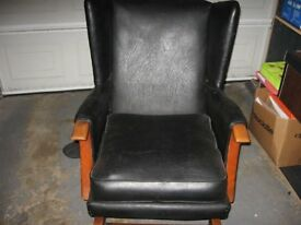 2 black rocking chairs
