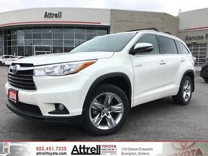 2014 Toyota Highlander Hybrid Limited. Smart Key, Navigation, Bl