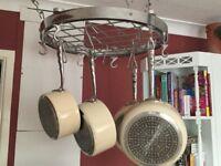 Hahn circular hanging saucepan rack