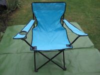Turquoise Blue Folding Fishing Chair