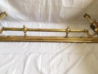 Antique brass fire fender fireplace