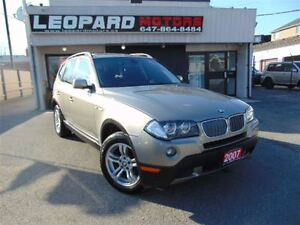 2007 BMW X3 **On Special*Pnoramic,Heated Leather*Certified*