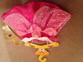 new build a bear princess rapunzel dress and tiara - free build a bear if wanted (used)
