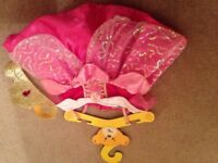 new build a bear princess rapunzel dress and tiara - free build a bear if wanted (used)