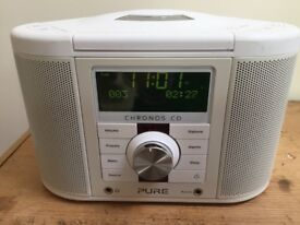 PURE Chronos CD Player/Digital and FM Clock Radio