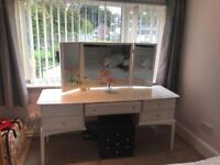 Stag white wooden dressing table