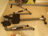 Rowing Machine (Body sculpture twin hydraulic rower)