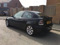 Black Bmw 3 series compact with Grey leather and carpet. Honest, reliable and smooth to drive.