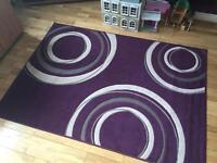 Plum swirl rug