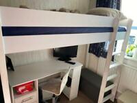 Bedroom set, bunk bed and desk