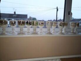 Royal Doulton Twelve days of Christmas goblets