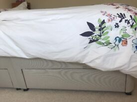 King size Divan bed base with four drawers