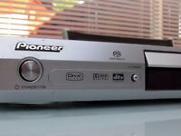 PIONEER DV-575A SACD SUPER AUDIO CD MP3 DVD-AUDIO PLAYER SLIMLINE SILVER or Black