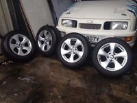 BMW F30 F31 2012-16 X4 WHEELS WITH TYRES 16 INCH BREAKING 1 3 5 6 7 SERIES
