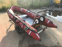4.7M (15.4FT) ZODIAC SIB INFLATABLE BOAT WITH SNIPE TRAILER