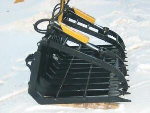 Skid Steer & Tractor Debris Grapples --- All Sizes --- Canadian Built --- Free Delivery --- Hydraulic Grapples