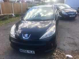Peugeot 207 1.4 5door in black with red black enterior bargain for some one