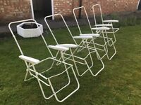 Free x 4 reclining garden chair frames good condition